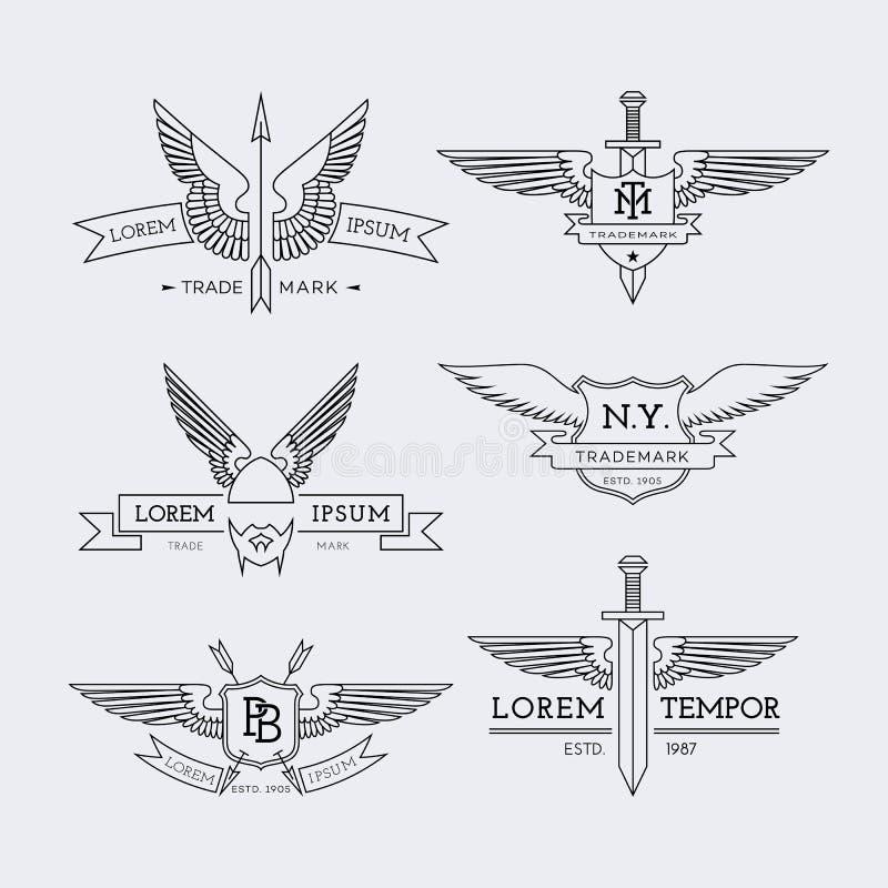 Konturów logowie ustawiający ilustracji