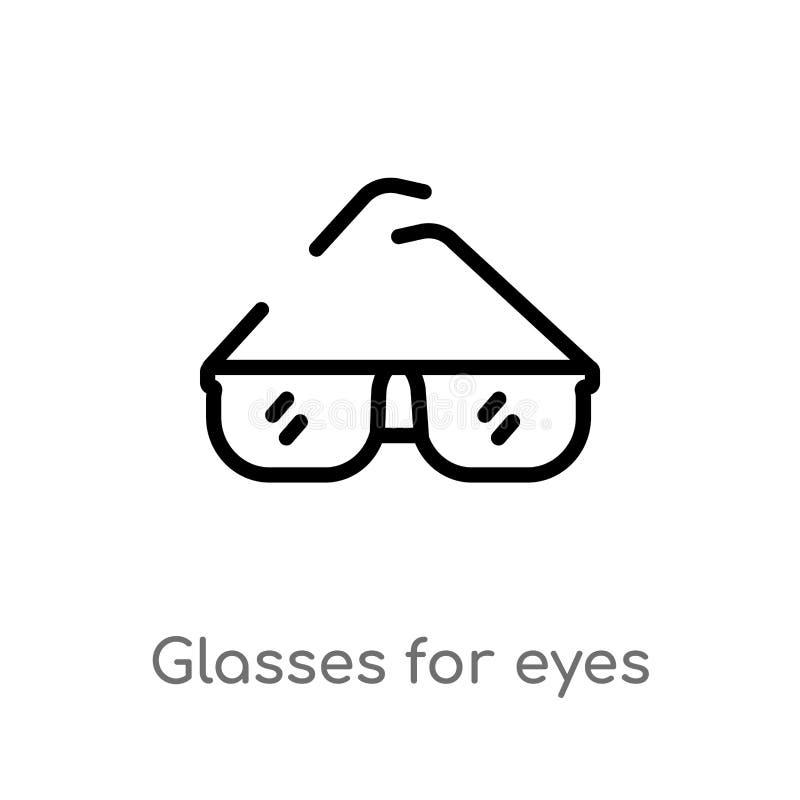 konturów szkła dla oko wektoru ikony odosobniona czarna prosta kreskowego elementu ilustracja od kobiety ubraniowego pojęcia Edit ilustracja wektor