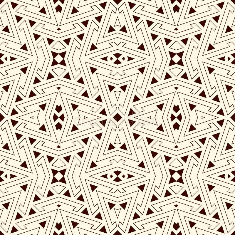 Konturów trójboki na białym tle Częstotliwe postacie tapetowe Etniczny ornamentacyjny motyw bezszwowy wzoru geometrycznego ilustracji