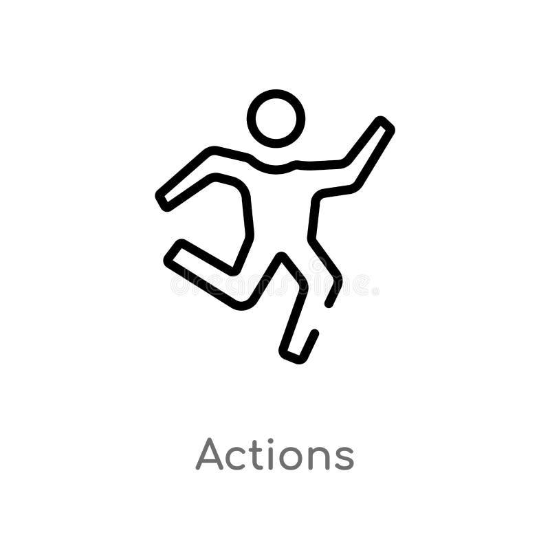 kontur akcji wektoru ikona odosobniona czarna prosta kreskowego elementu ilustracja od hazardu pojęcia editable wektorowe uderzen royalty ilustracja