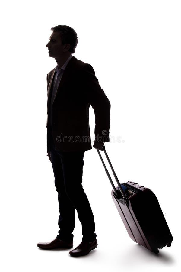 Kontur av att resa aff?rsmannen royaltyfri fotografi