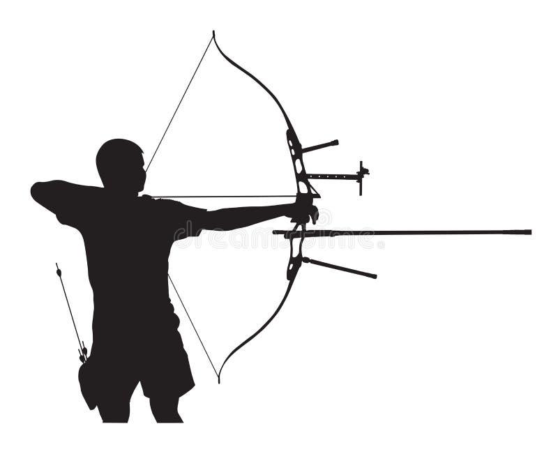 Kontur av bågskytten vektor illustrationer