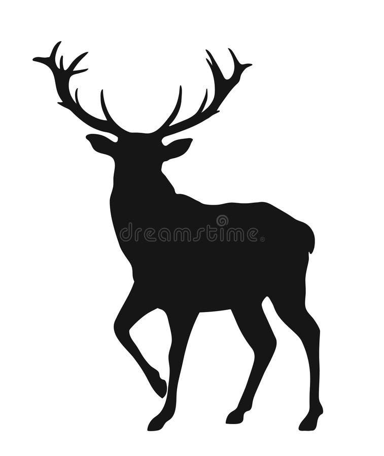 Kontur av bocken royaltyfri illustrationer