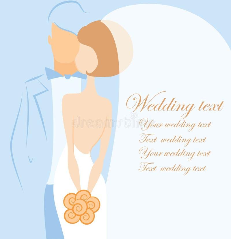 Kontur av bruden och brudgummen, vektorbakgrund vektor illustrationer