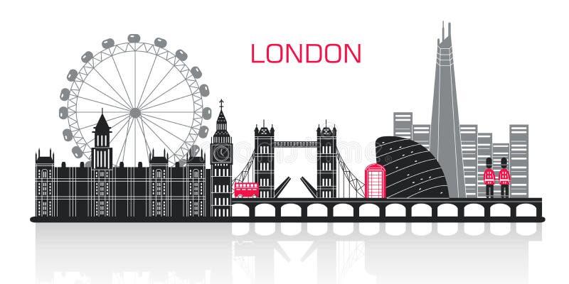 Kontur av den london staden royaltyfri illustrationer