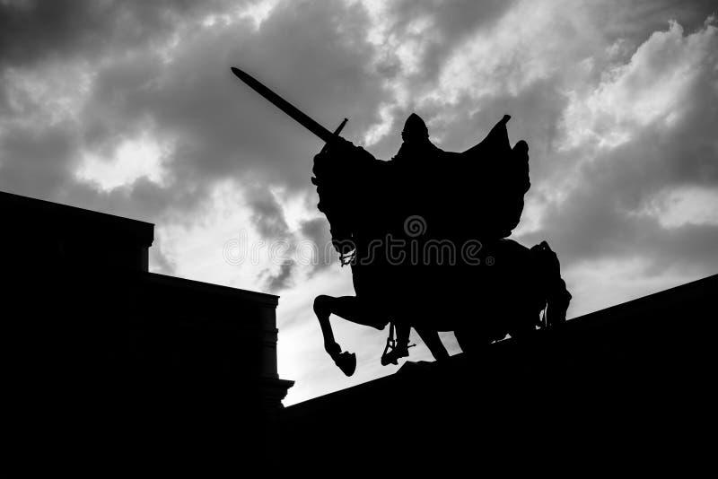 Kontur av El Cid Campeador i Burgos arkivfoton