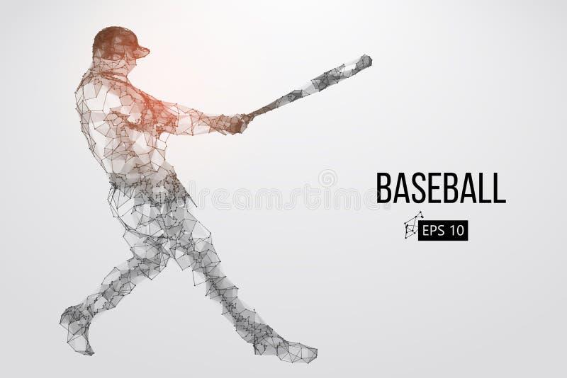 Kontur av en basebollspelare också vektor för coreldrawillustration
