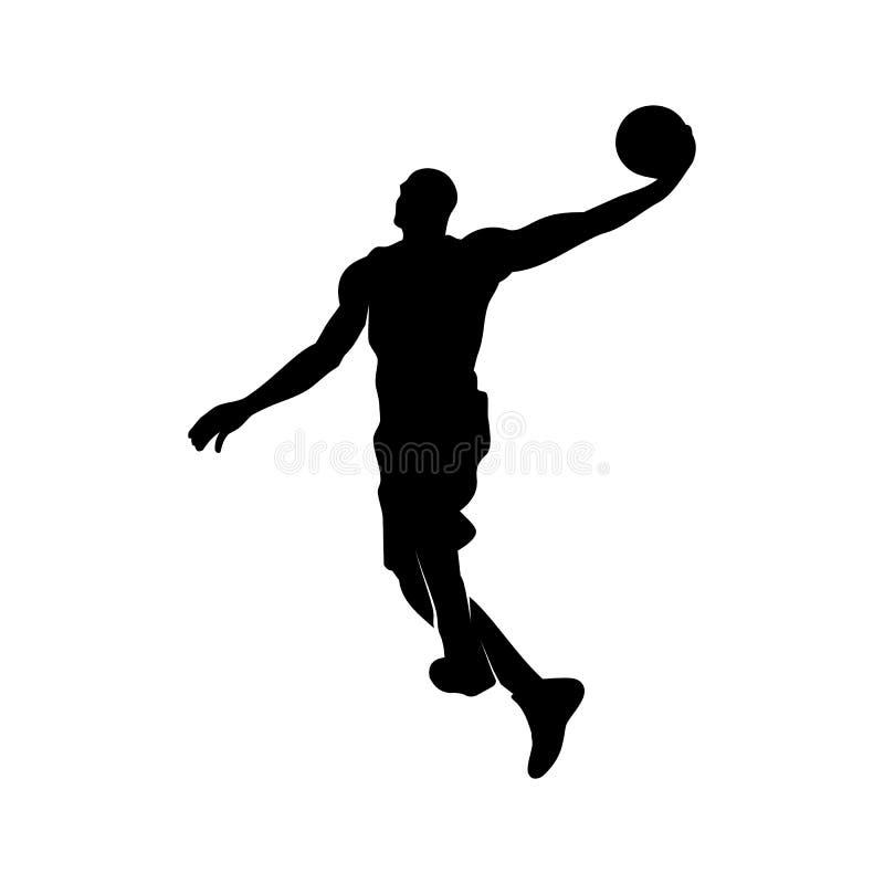 Kontur av en basketspelare royaltyfri bild