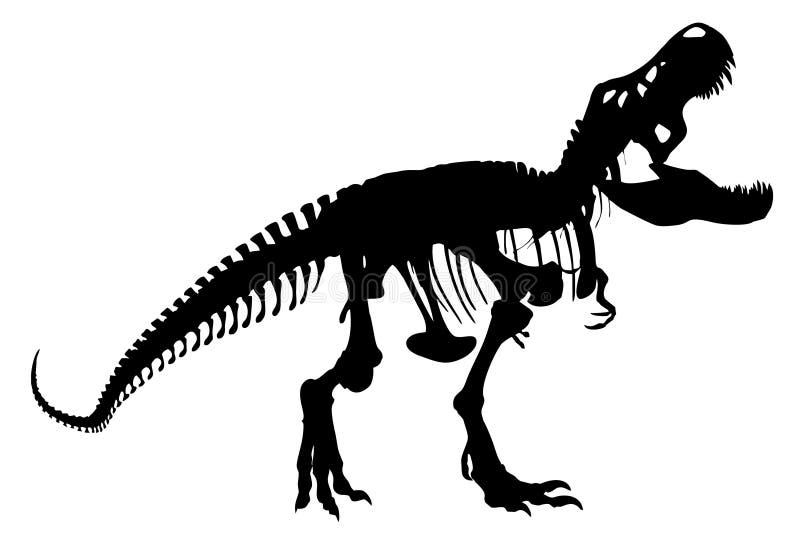 Kontur av en dinosaurie skeleton1 stock illustrationer