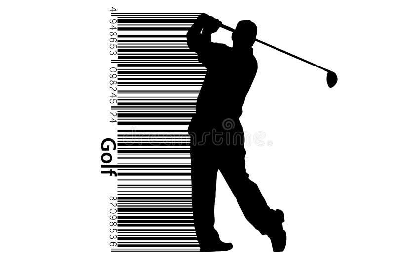 Kontur av en golfspelare också vektor för coreldrawillustration vektor illustrationer