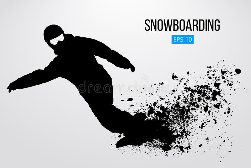 Kontur av en isolerad snowboarder också vektor för coreldrawillustration