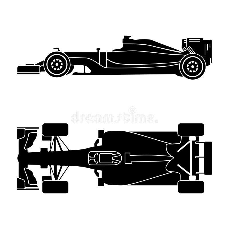 Kontur av en tävlings- bil vektor illustrationer