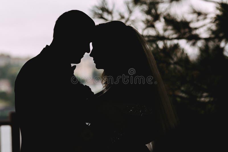 Kontur av ett älska par royaltyfri foto