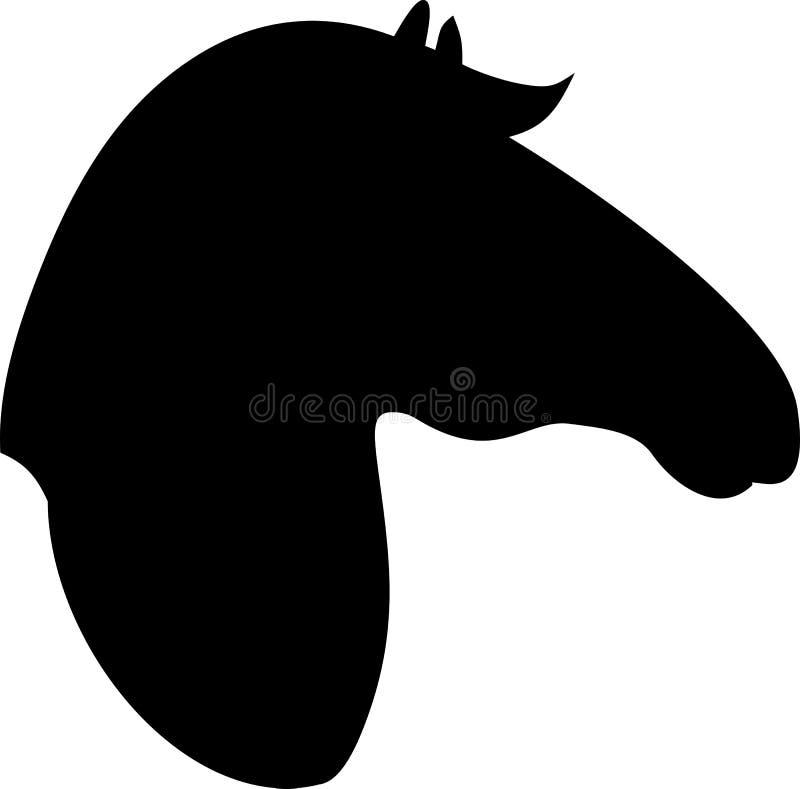 Kontur av hästhuvudet royaltyfri illustrationer