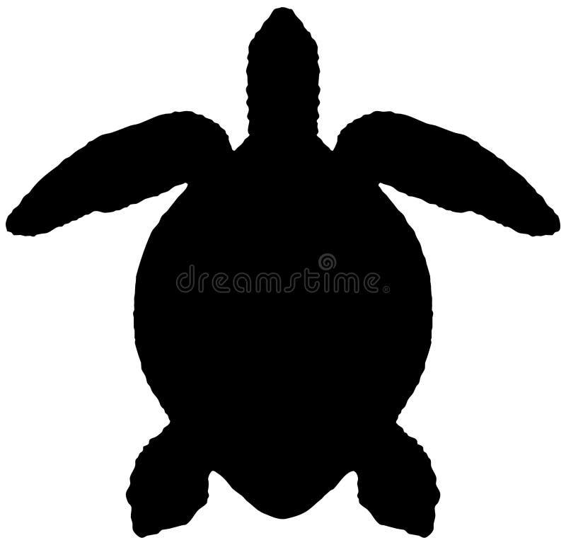 Kontur av havssköldpaddan royaltyfri illustrationer