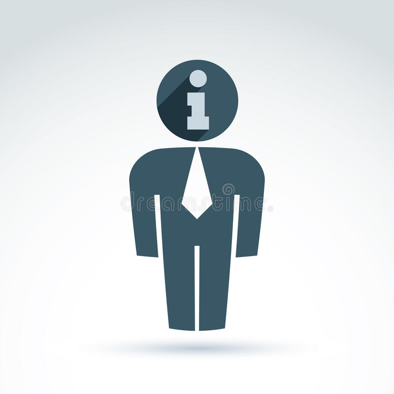 Kontur av personen som framme står - vektorillustrationen av stock illustrationer