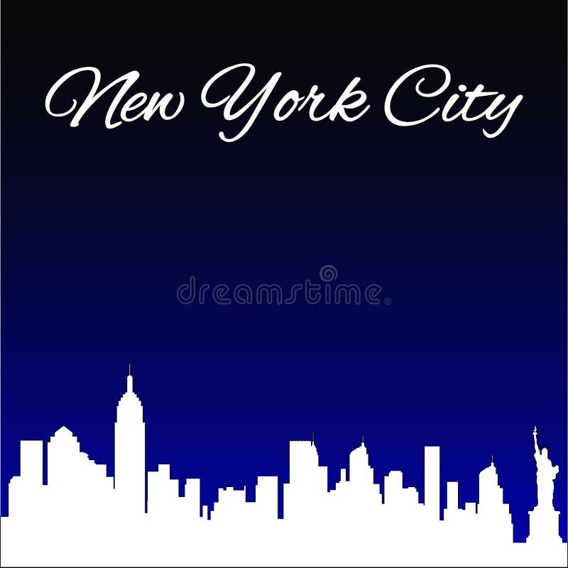 Kontur av staden av New York, den berömda staden av Amerika, stock illustrationer