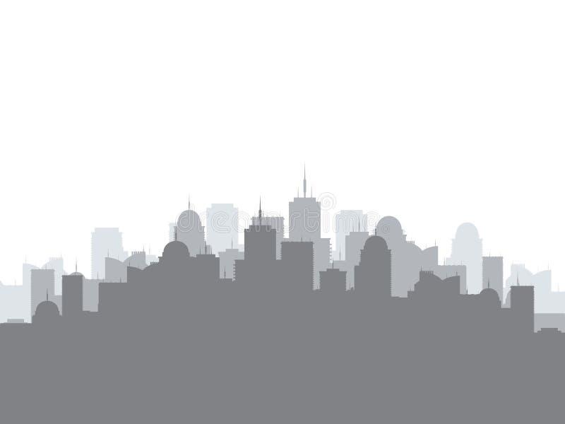 Kontur av stadshorisont Stads- illustration för vektor royaltyfri illustrationer
