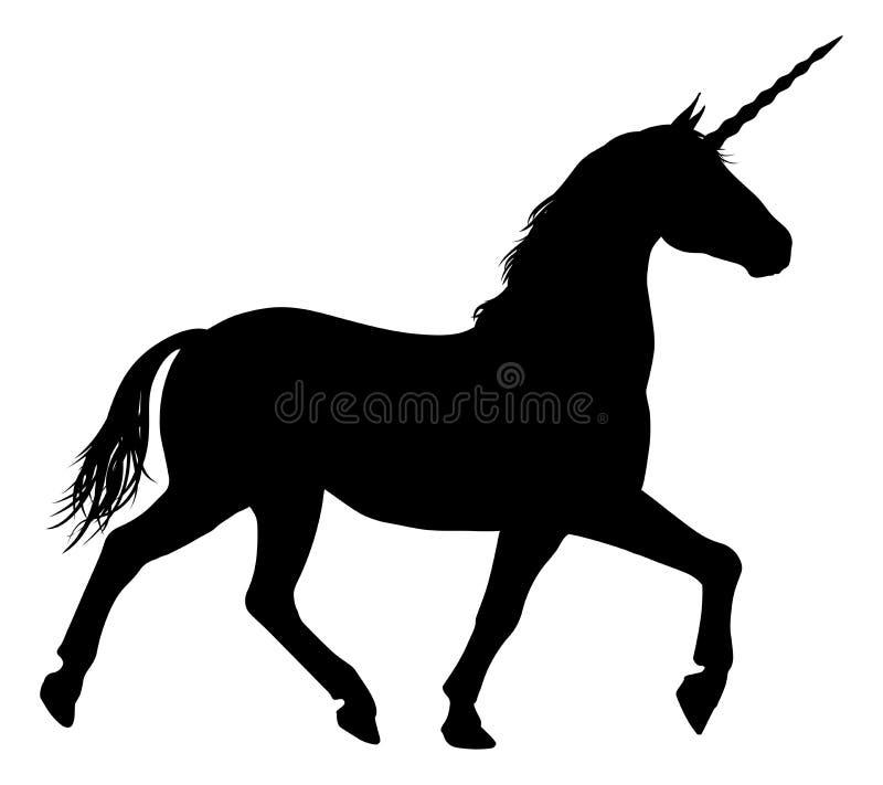 Kontur av Unicorn Horse stock illustrationer