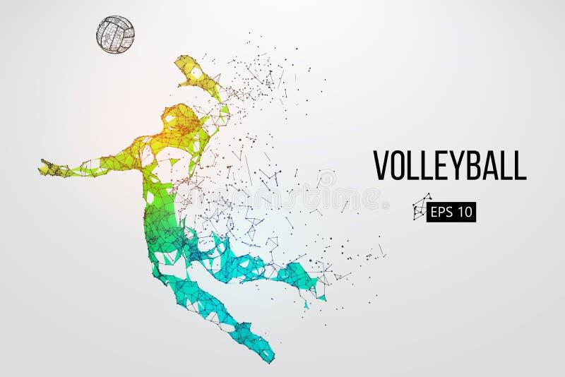 Kontur av volleybollspelaren också vektor för coreldrawillustration