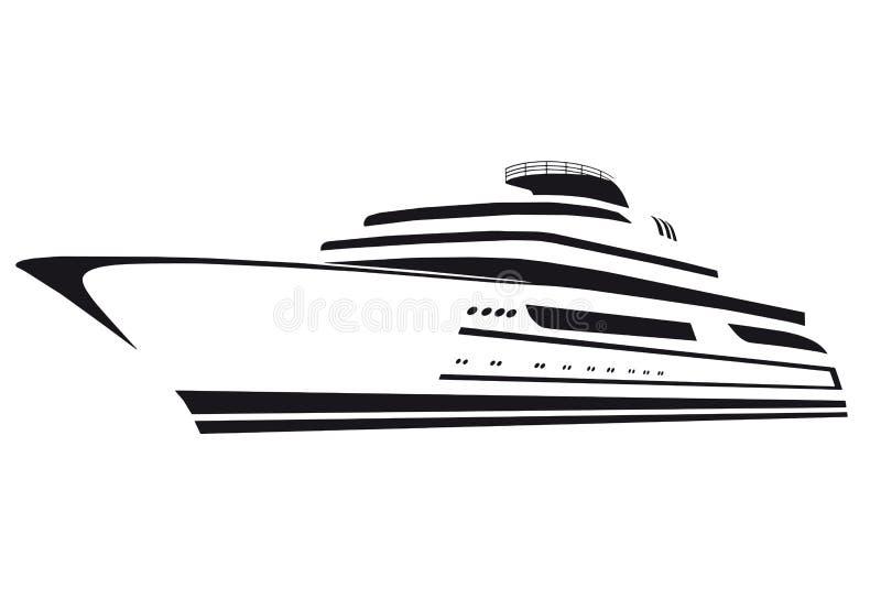 Kontur av yachten fartyg Skepp royaltyfri illustrationer