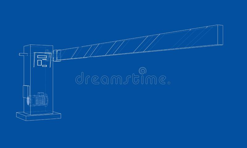 Kontur bariery brama wektor royalty ilustracja