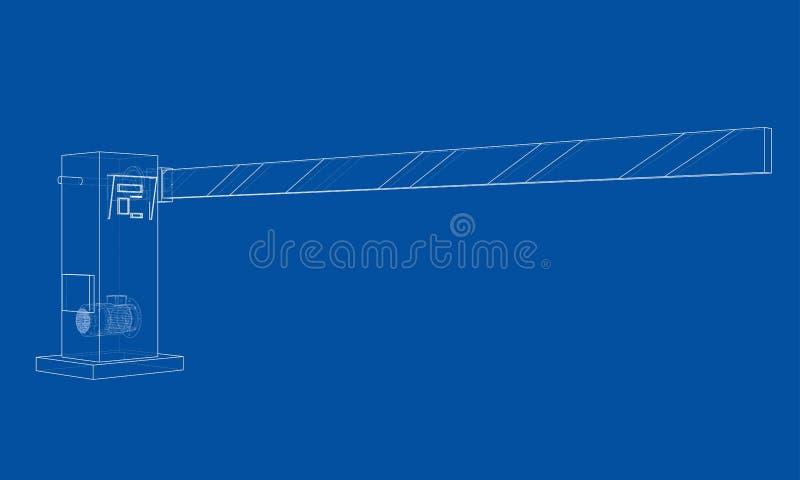 Kontur bariery brama wektor ilustracji