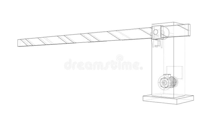 Kontur bariery brama wektor ilustracja wektor