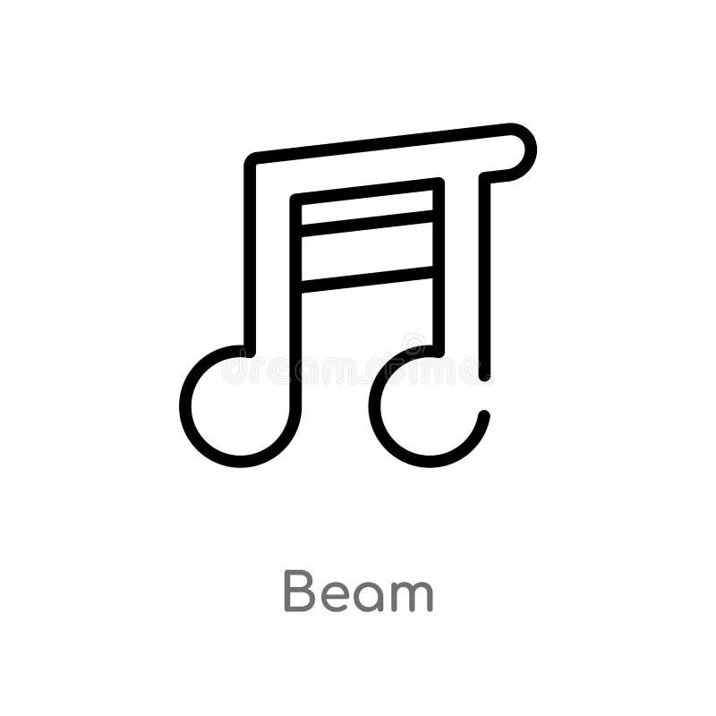 kontur belkowata wektorowa ikona odosobniona czarna prosta kreskowego elementu ilustracja od muzycznego i medialnego poj?cia Edit royalty ilustracja