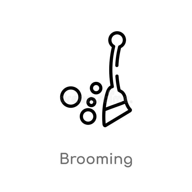 kontur brooming wektorową ikonę odosobniona czarna prosta kreskowego elementu ilustracja od ogrodnictwa pojęcia Editable wektorow ilustracja wektor