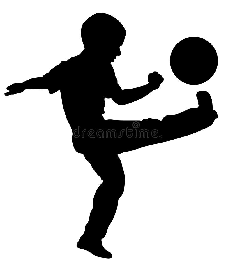 Kontur för boll för pyssparkfotboll utomhus- vektor illustrationer