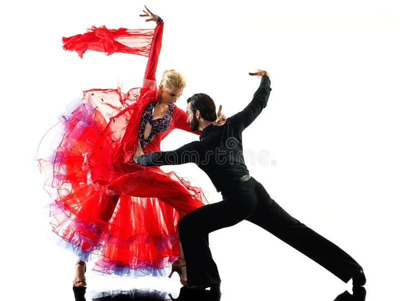 Kontur för dans för dansare för salsa för tango för balsal för mankvinnapar royaltyfri foto