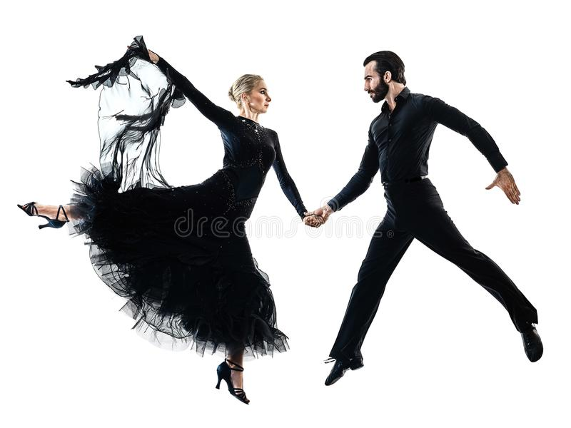 Kontur för dans för dansare för salsa för tango för balsal för mankvinnapar royaltyfri bild