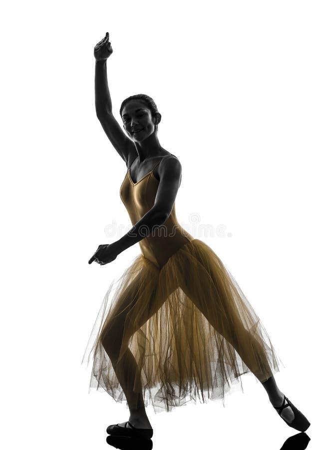 Kontur för dans för kvinnaballerinabalettdansör royaltyfri foto