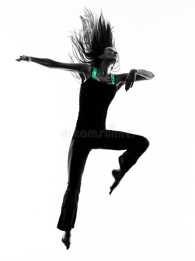 Kontur för kvinnadansaredans royaltyfri bild
