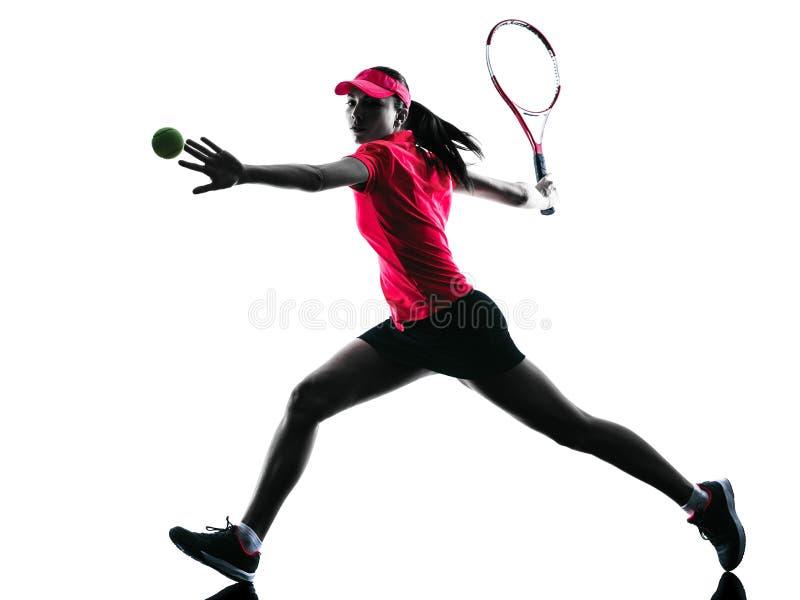Kontur för kvinnatennisspelaresorgsenhet arkivbilder