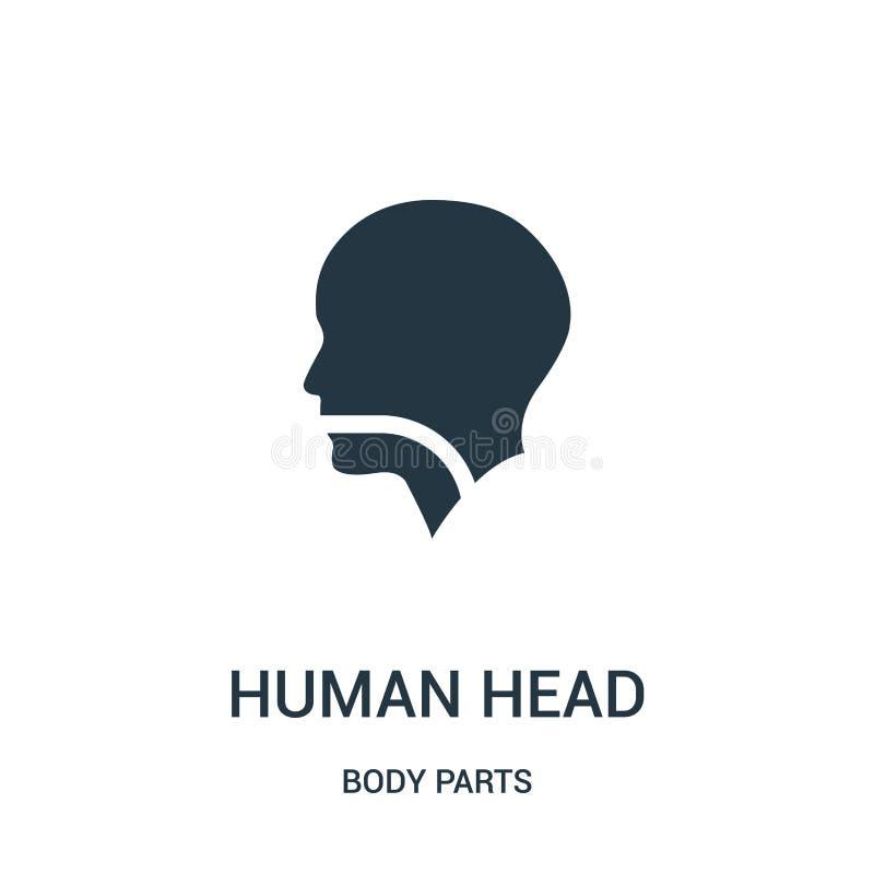 kontur för mänskligt huvud med en linje i vektor för munsvalg- och struphuvudsymbol från kroppsdelsamling Tunn linje mänskligt hu stock illustrationer