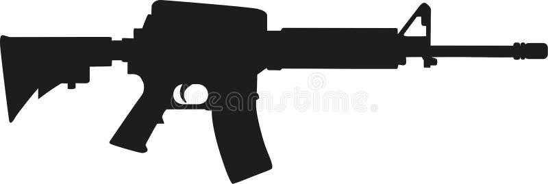 Kontur för prickskyttgevär vektor illustrationer