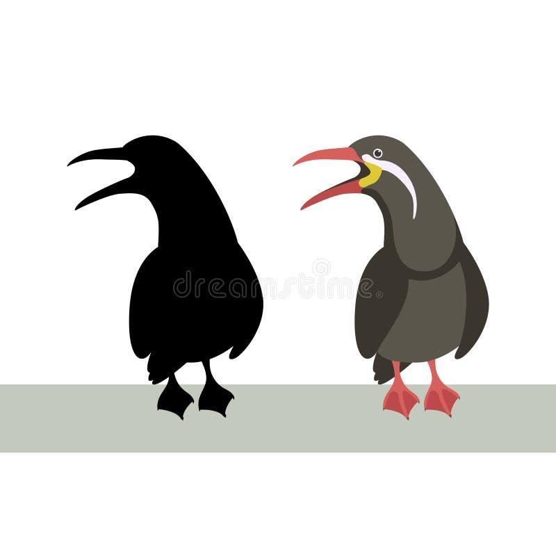 Kontur för svart för stil för lägenhet för illustration för Incatärnavektor stock illustrationer