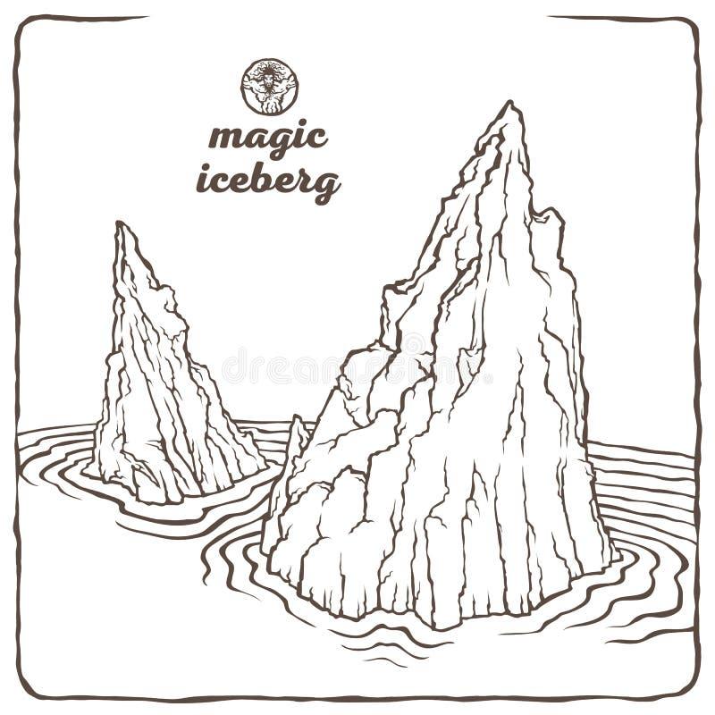 Kontur góra lodowa royalty ilustracja