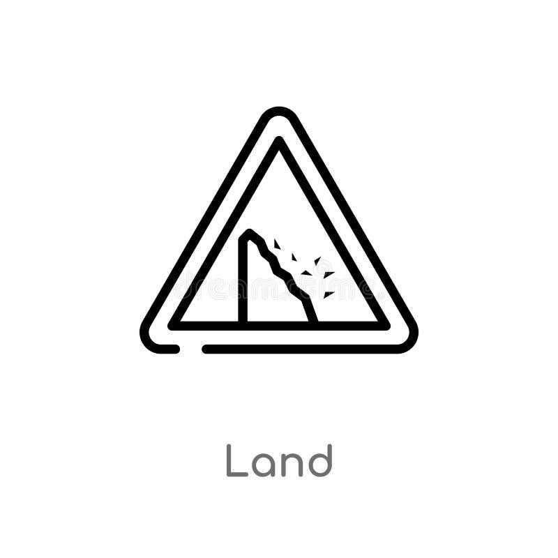 kontur gruntowa wektorowa ikona odosobniona czarna prosta kreskowego elementu ilustracja od sieci poj?cia editable wektorowa uder ilustracja wektor