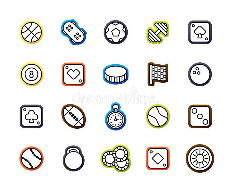 Kontur ikony cienieją płaskiego projekt, nowożytny kreskowy uderzenie styl ilustracja wektor