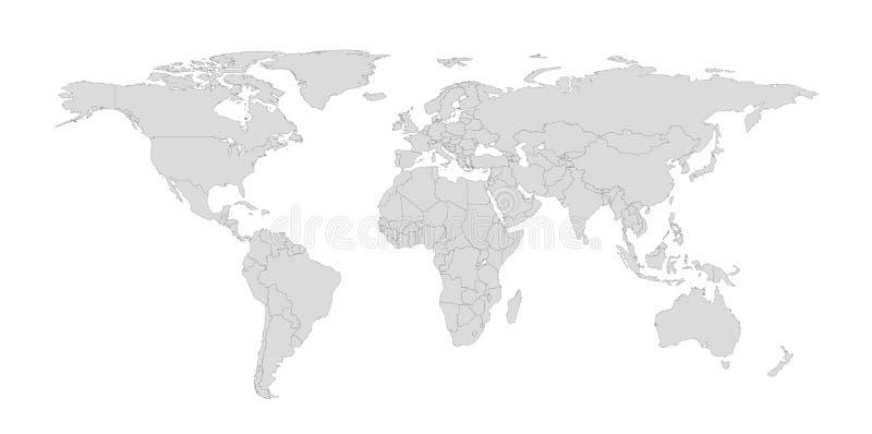 Kontur ilustracja świat z krajem graniczy royalty ilustracja