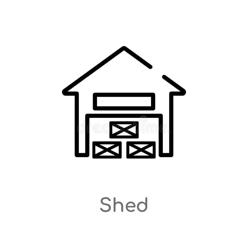 kontur jaty wektoru ikona odosobniona czarna prosta kreskowego elementu ilustracja od rolnictwa uprawia ziemię pojęcie Editable w ilustracja wektor