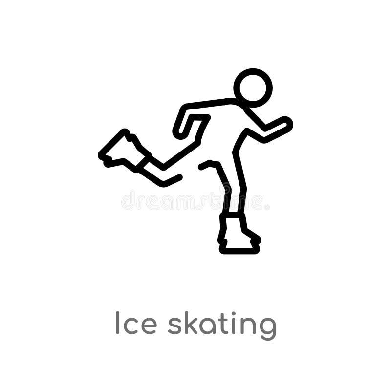 kontur jazdy na ?y?wach wektoru ikona odosobniona czarna prosta kreskowego elementu ilustracja od sporta poj?cia editable wektoro royalty ilustracja