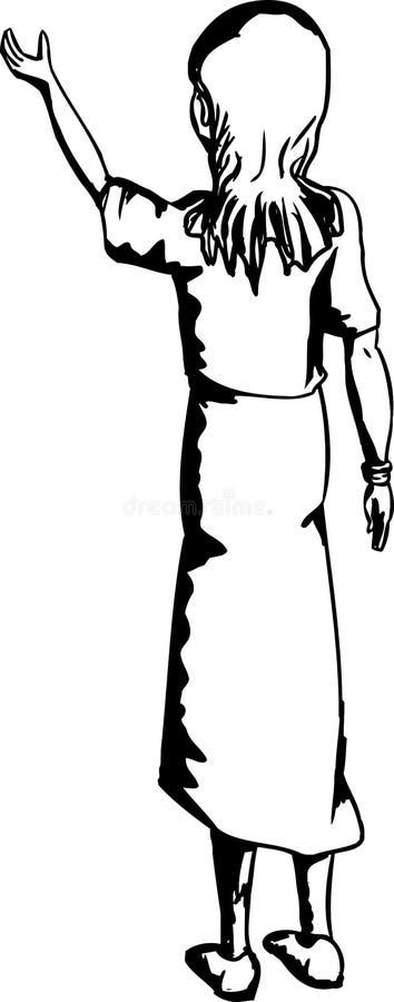 Kontur kobieta udźwig Coś ilustracji