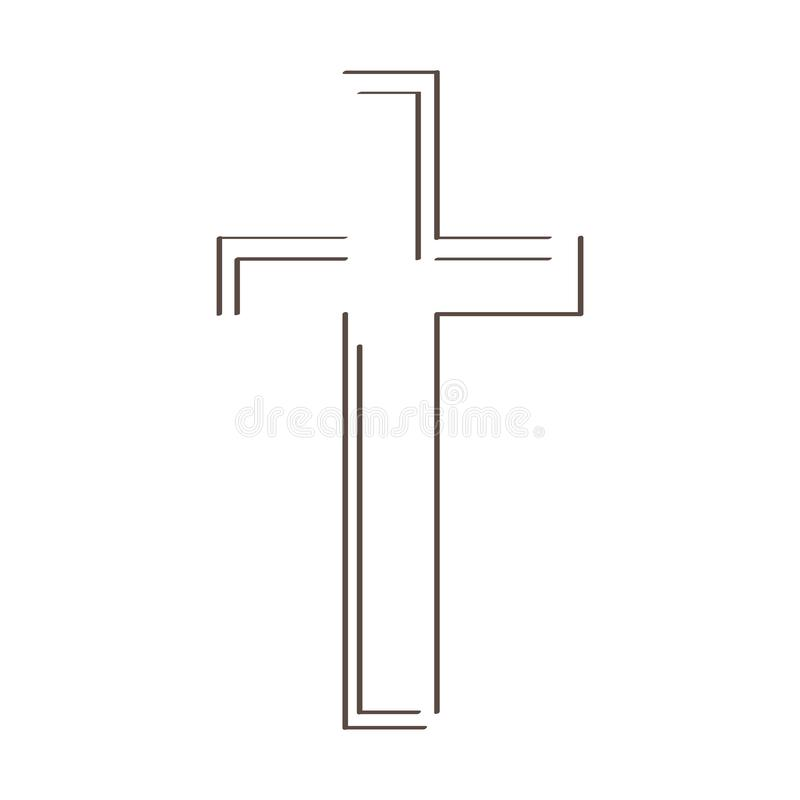 Kontur krzyż royalty ilustracja