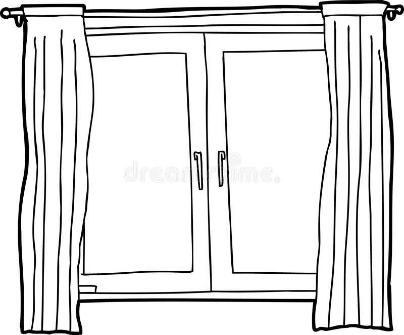 Kontur lufcik Windows ilustracji