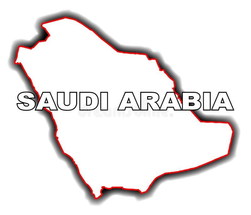 Kontur mapa Arabia Saudyjska ilustracja wektor