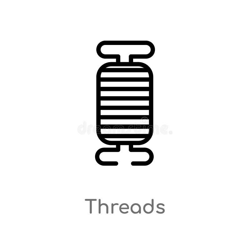 kontur nici wektoru ikona odosobniona czarna prosta kreskowego elementu ilustracja od szy pojęcie editable wektorowa uderzenie ni ilustracja wektor